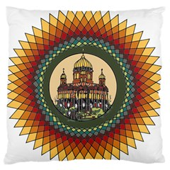 Building Mandala Palace Standard Flano Cushion Case (one Side) by Nexatart