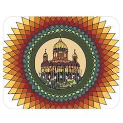 Building Mandala Palace Double Sided Flano Blanket (medium)  by Nexatart