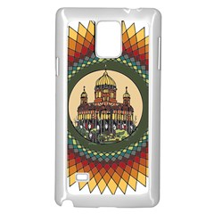 Building Mandala Palace Samsung Galaxy Note 4 Case (white)