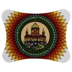 Building Mandala Palace Jigsaw Puzzle Photo Stand (bow)