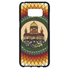 Building Mandala Palace Samsung Galaxy S8 Black Seamless Case by Nexatart