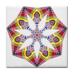 Colorful Chromatic Psychedelic Tile Coasters by Nexatart