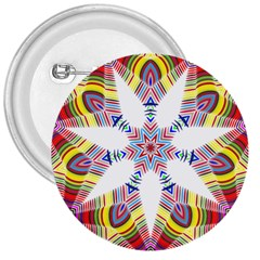 Colorful Chromatic Psychedelic 3  Buttons by Nexatart