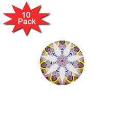 Colorful Chromatic Psychedelic 1  Mini Buttons (10 Pack)