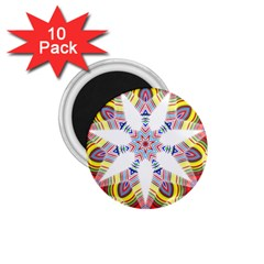 Colorful Chromatic Psychedelic 1 75  Magnets (10 Pack)