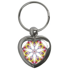 Colorful Chromatic Psychedelic Key Chains (heart)