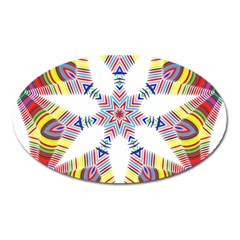 Colorful Chromatic Psychedelic Oval Magnet by Nexatart
