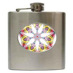 Colorful Chromatic Psychedelic Hip Flask (6 Oz)
