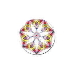 Colorful Chromatic Psychedelic Golf Ball Marker (4 Pack)