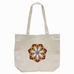 Colorful Chromatic Psychedelic Tote Bag (cream)