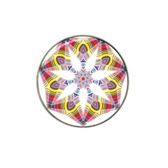 Colorful Chromatic Psychedelic Hat Clip Ball Marker (10 Pack)