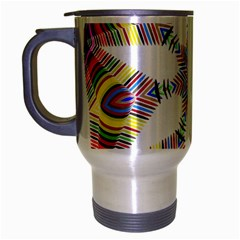 Colorful Chromatic Psychedelic Travel Mug (silver Gray)