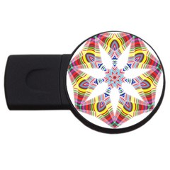 Colorful Chromatic Psychedelic Usb Flash Drive Round (4 Gb)