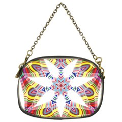 Colorful Chromatic Psychedelic Chain Purses (one Side)