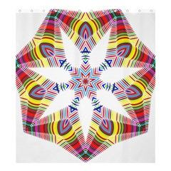 Colorful Chromatic Psychedelic Shower Curtain 66  X 72  (large)  by Nexatart