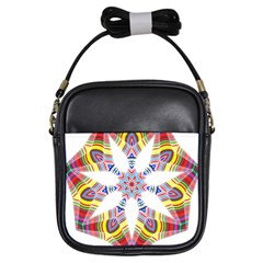 Colorful Chromatic Psychedelic Girls Sling Bags