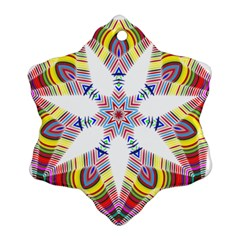 Colorful Chromatic Psychedelic Snowflake Ornament (two Sides)