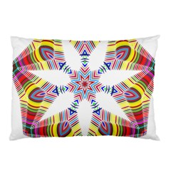 Colorful Chromatic Psychedelic Pillow Case (two Sides) by Nexatart