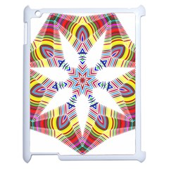 Colorful Chromatic Psychedelic Apple Ipad 2 Case (white) by Nexatart