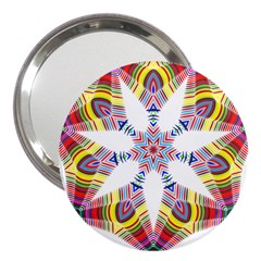 Colorful Chromatic Psychedelic 3  Handbag Mirrors
