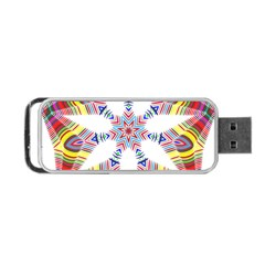 Colorful Chromatic Psychedelic Portable Usb Flash (two Sides) by Nexatart