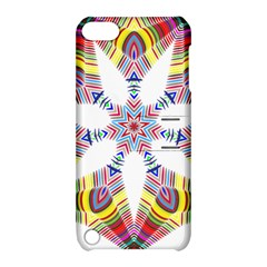 Colorful Chromatic Psychedelic Apple Ipod Touch 5 Hardshell Case With Stand by Nexatart
