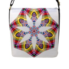Colorful Chromatic Psychedelic Flap Messenger Bag (l)  by Nexatart