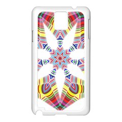 Colorful Chromatic Psychedelic Samsung Galaxy Note 3 N9005 Case (white)