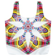 Colorful Chromatic Psychedelic Full Print Recycle Bags (l)