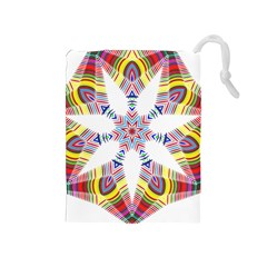 Colorful Chromatic Psychedelic Drawstring Pouches (medium)