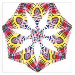 Colorful Chromatic Psychedelic Large Satin Scarf (square)