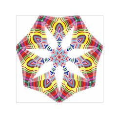 Colorful Chromatic Psychedelic Small Satin Scarf (square) by Nexatart