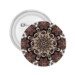 Mandala Pattern Round Brown Floral 2 25  Buttons by Nexatart