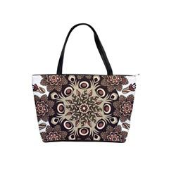 Mandala Pattern Round Brown Floral Shoulder Handbags
