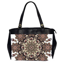 Mandala Pattern Round Brown Floral Office Handbags (2 Sides)