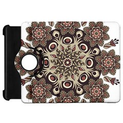 Mandala Pattern Round Brown Floral Kindle Fire Hd 7