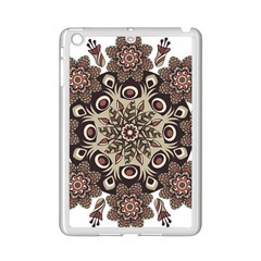 Mandala Pattern Round Brown Floral Ipad Mini 2 Enamel Coated Cases