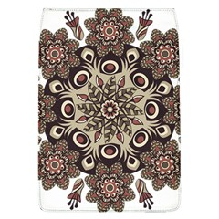 Mandala Pattern Round Brown Floral Flap Covers (l)