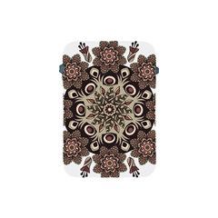 Mandala Pattern Round Brown Floral Apple Ipad Mini Protective Soft Cases