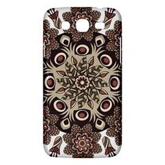Mandala Pattern Round Brown Floral Samsung Galaxy Mega 5 8 I9152 Hardshell Case