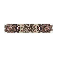 Mandala Pattern Round Brown Floral Flano Scarf (mini)