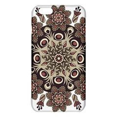 Mandala Pattern Round Brown Floral Iphone 6 Plus/6s Plus Tpu Case