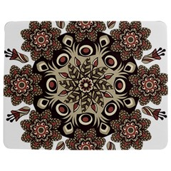 Mandala Pattern Round Brown Floral Jigsaw Puzzle Photo Stand (rectangular)