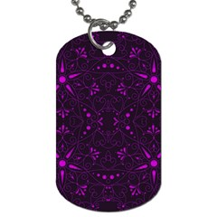 Majestic Pattern E Dog Tag (two Sides) by MoreColorsinLife