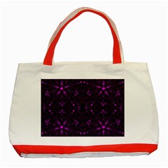 Majestic Pattern E Classic Tote Bag (red)