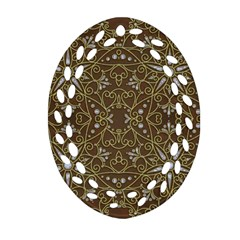 Majestic Pattern D Ornament (oval Filigree) by MoreColorsinLife