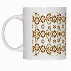 Multicolor Graphic Pattern White Mugs by dflcprints