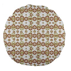 Multicolor Graphic Pattern Large 18  Premium Round Cushions by dflcprints