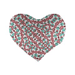 Multicolor Graphic Pattern Standard 16  Premium Heart Shape Cushions by dflcprints
