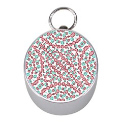 Multicolor Graphic Pattern Mini Silver Compasses by dflcprints